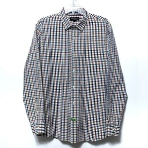 BR Factory Plaid Button Up Standard Fit Shirt L